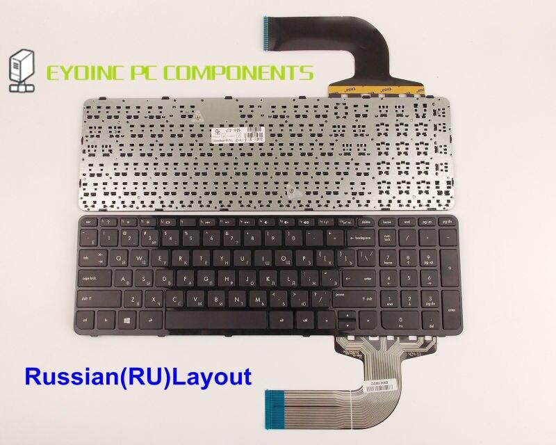 لوحة مفاتيح الكمبيوتر المحمول HP Pavilion ، 15-d027cl 15-d030nr 15-d035dx 15-d037dx 15-g049ca بإطار النسخة الروسية RU