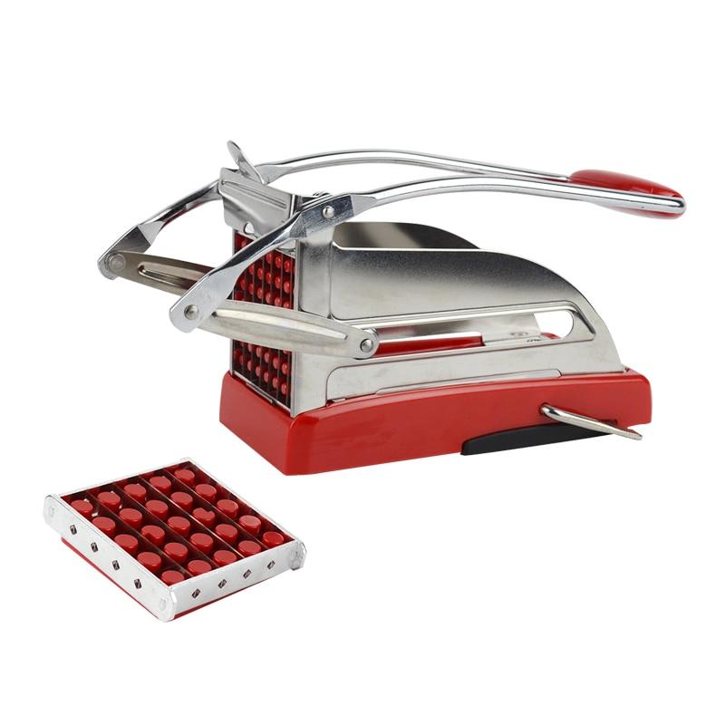 Cortador de patatas fritas de lujo para cocina, máquina cortadora de tiras...