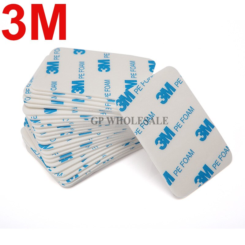 5 uds 3M 1600T cinta adhesiva blanca de espuma PE de doble cara 1,1mm x 60mm x 42mm