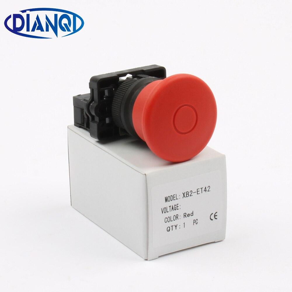 XB2 ET42 xb2-et42 pulsador de parada de emergencia botón principal 40mm N/C interruptor de botón,