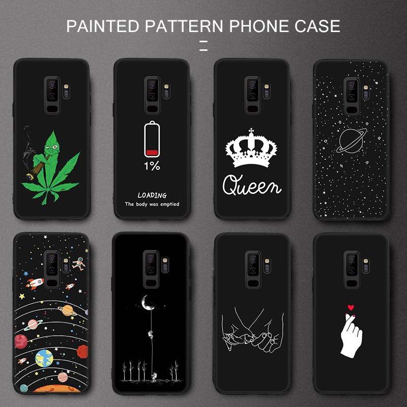 Силиконовый чехол для телефона Samsung Galaxy S9 S10 S8 Plus S10e A6 A8 J4 J6 Plus 2018 Note 9 8 Pattarn Cover A7 2018 A750F