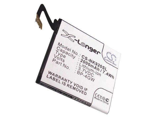 Cameron Sino 2000mAh batería de la batería BP-4GW para Nokia Lumia 920...