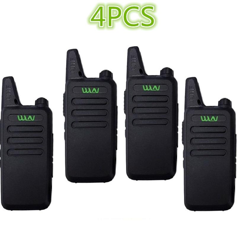 4PCS WLN KD-C1 Walkie Talkie UHF 400-470 MHz 5W Power 16 Channel  Kaili MINI Handheld Transceiver  Two Way Radio