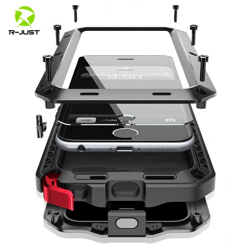 Heavy Duty Protection Doom Armor Metal Aluminum Phone Case for iPhone 6 6S 7 8 Plus X 12 11 5S SE 5C