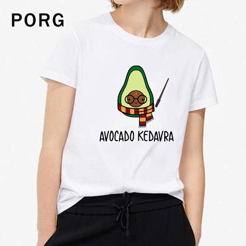 Avocado TShirt Women Harajuku Funny Cute T Shirt Gothic Tops&Tees Korean Aesthetic Streetwear Women Camisetas Verano Mujer 2019