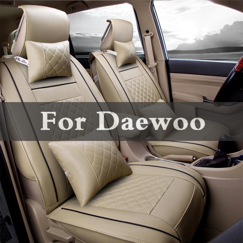 Luxury Pu Leather Auto Universal 5 Color Car Seat Cover Sets Automotive For Daewoo Evanda G2x Gentra Kalos Lacetti Lanos Magnus