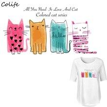 Autocollant lavable avec trois chats de 22 x 11cm   Accessoires de décoration, en cadeau, vêtements, pour enfant, lavable, avec autocollant sur T-Shirt, nouveau Design