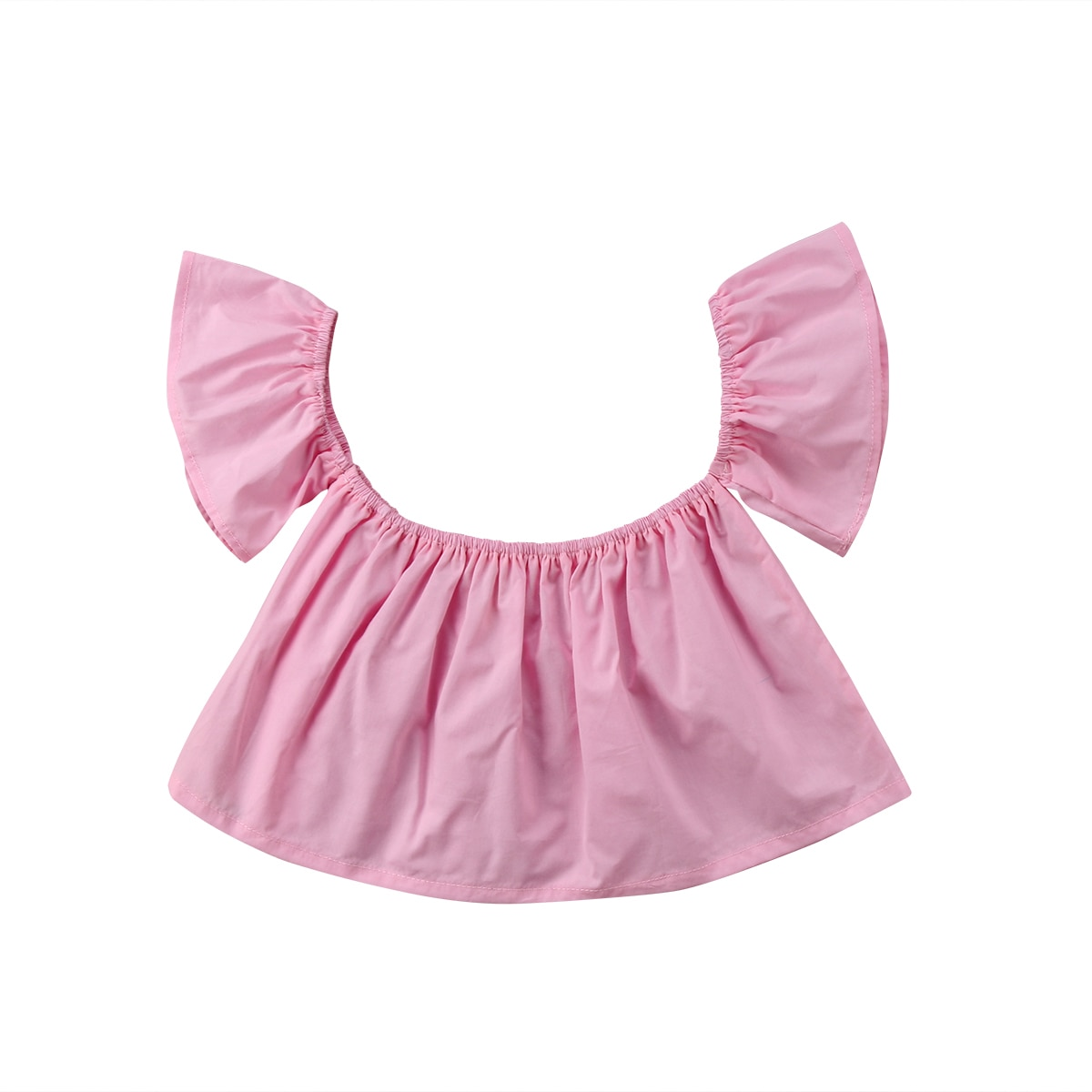 Newborn Baby Girls Princess Wedding Sunsuit Blouse Shirts Jumper Off Shoulder Cotton Sleeveless Summer Crop Top Clothing Blouses
