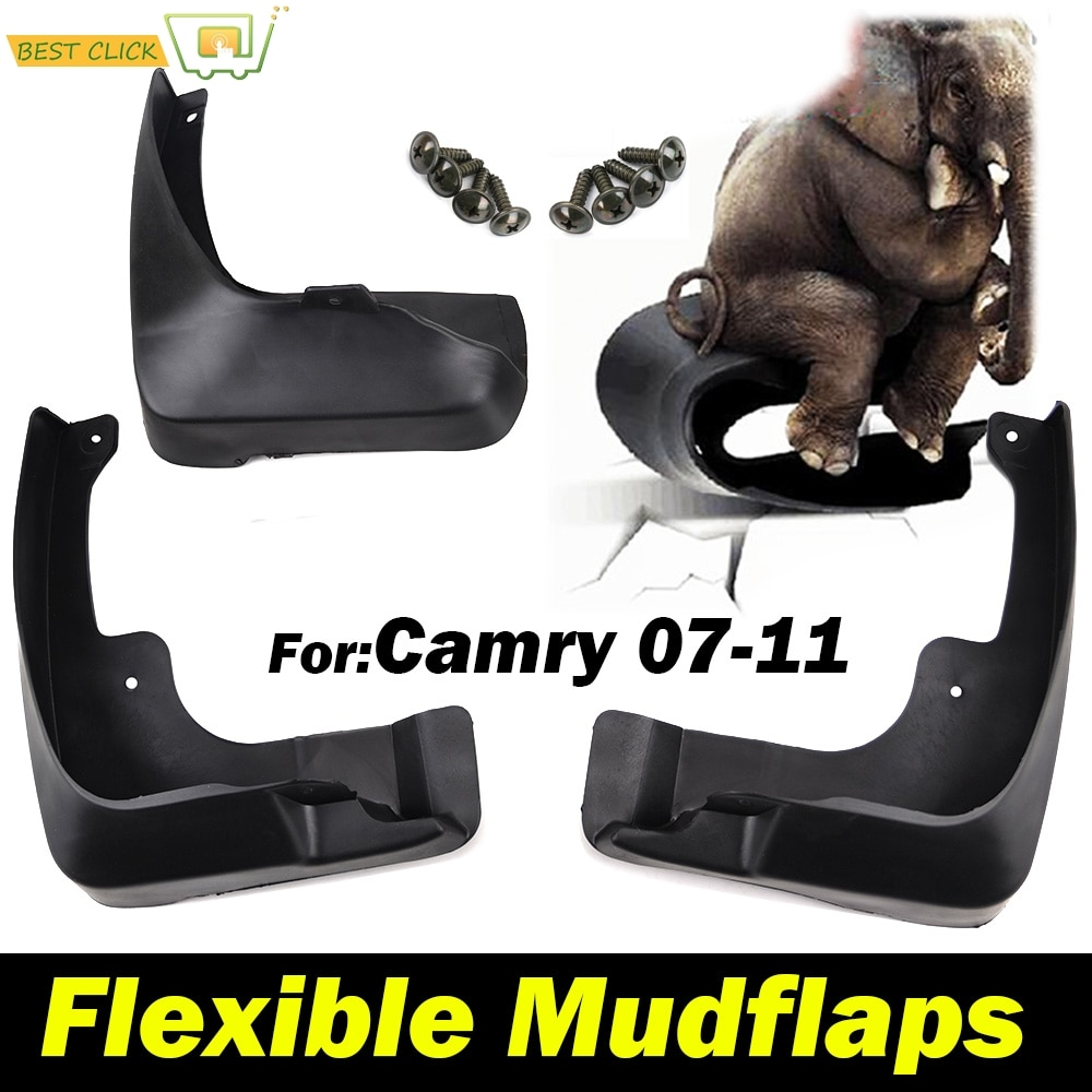 4 guardabarros flexibles para Toyota Camry Altis audion XV40 2007 2008 2009 2010 2011 guardabarros