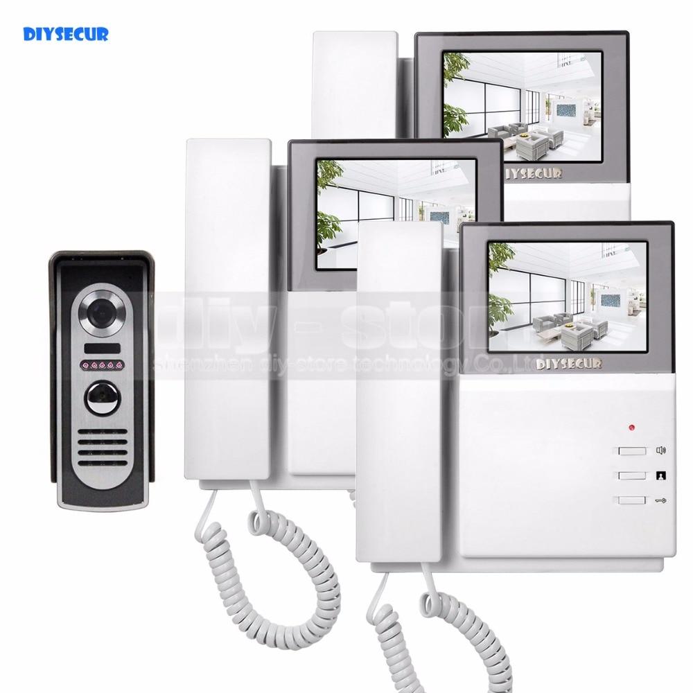 DIYSECUR 800x480 videoportero portero 4,3 pulgadas Monitor interior + 600 TVLine IR cámara de visión nocturna al aire libre