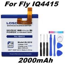 BL3810 LOSONCOER 2000mAh Alta Qualidade Da Bateria Do Telefone para a Mosca IQ4415 Quad IQ 4415 Inteligente bateria Do Telefone + ferramentas de Presente + adesivos