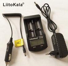 Liitokala lii-300 LCD un 3.7 V/1.2 V AA/AAA 18650 26650 16340 14500 10440 cargador de bater, con à la pantalla doble De 5 V 1A
