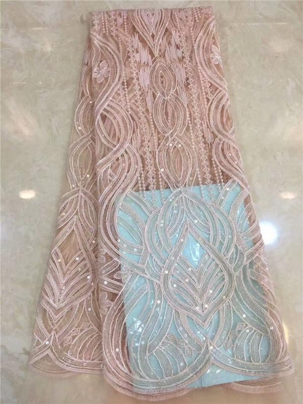 Tela de encaje francés con lentejuelas, tela francesa azul real, tela de encaje Africana barata con leche, tela de Hoja de encaje francesa, color melocotón, dorado, verde, blanco