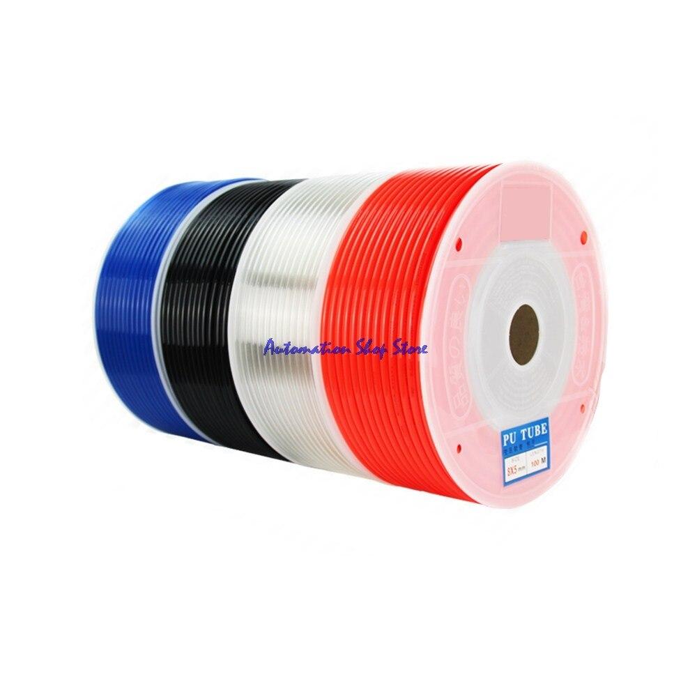 10mm (OD) x 6,5mm (ID) tubo de aire manguera de tubo neumático OD 10mm ID 6,5mm Tubo Flexible de poliuretano PU 5 metros