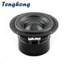 Tenghong 1 шт., 4 дюймовый басовый динамик, 4 Ом, 8 Ом, 40 Вт, портативный аудио сабвуфер, Hi Fi Стереодинамик для домашнего кинотеатра, колонки DIY