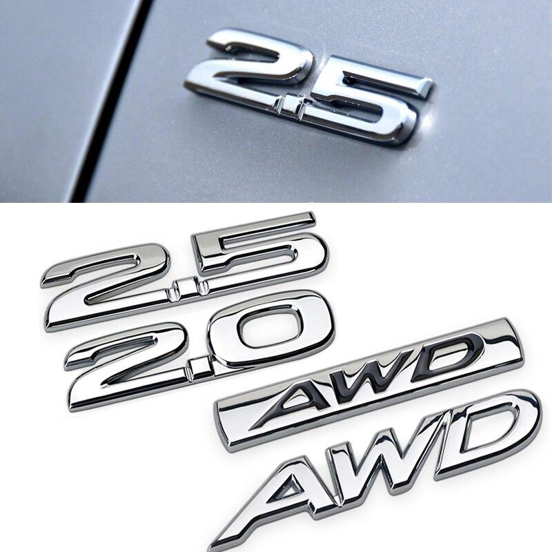 For Mazda 2.0 2.5 AWD Rear Trunk Side Emblem for Mazda 6 2 5 3 CX 5 CX3 CX4 CX7 CX9 RX7 MX3 Protege Axela Metal Sticker 3D Decal
