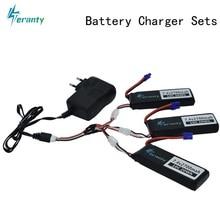 7.4V 2700mAh 10C pour Hubson H501W H501S H501C lipo batterie + câble + chargeur 7.4v pour RC Qaudcopter Drone pièces avec prise EC2