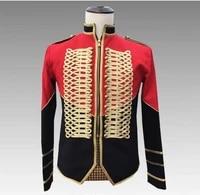 plus size s 4xl mens slim jacket trendy epaulet palace outfit men singer show jacket nightclub dance military uniform outfit