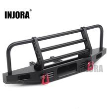 INJORA регулируемый металлический передний бампер для 1/10 RC Crawler Traxxas TRX4 Defender axic SCX10 SCX10 II 90046 90047