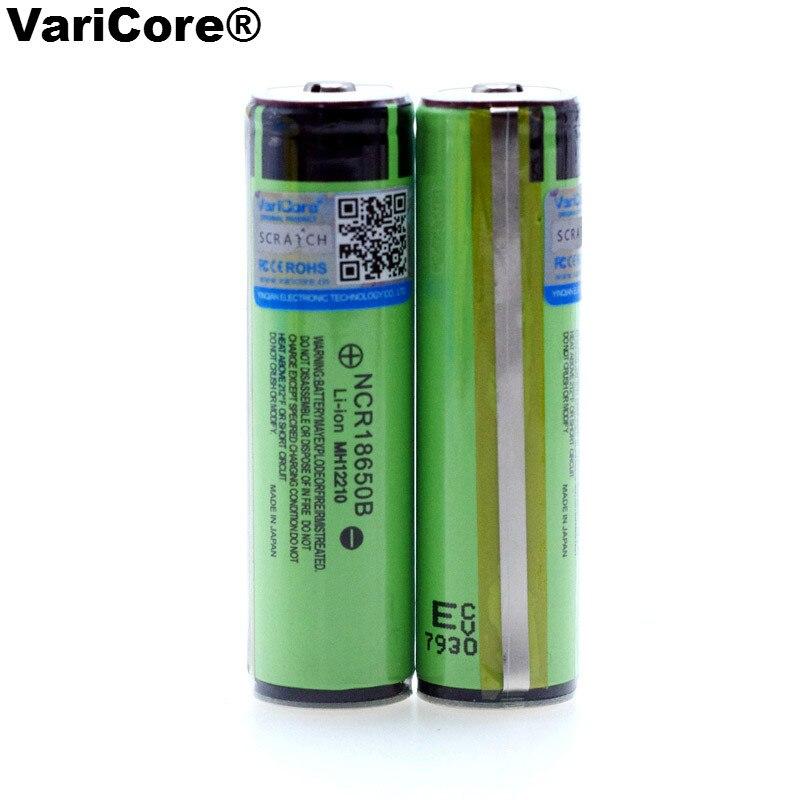 Novo original protegido 18650 ncr18650b recarregável li-ion bateria 3.7v com pcb 3400mah para uso de baterias de lanterna elétrica