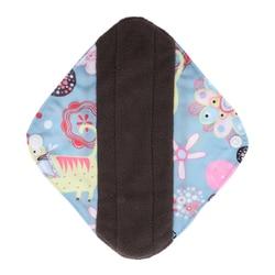 Almofadas sanitárias laváveis reusáveis das almofadas menstruais do pano de bambu do carvão durante a noite, s/m/l