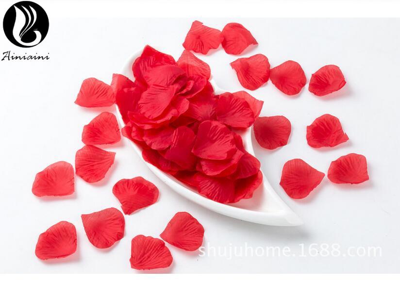 Flores artificiales De Rosa roja para decoración De fiestas, alfombra De pétalos...