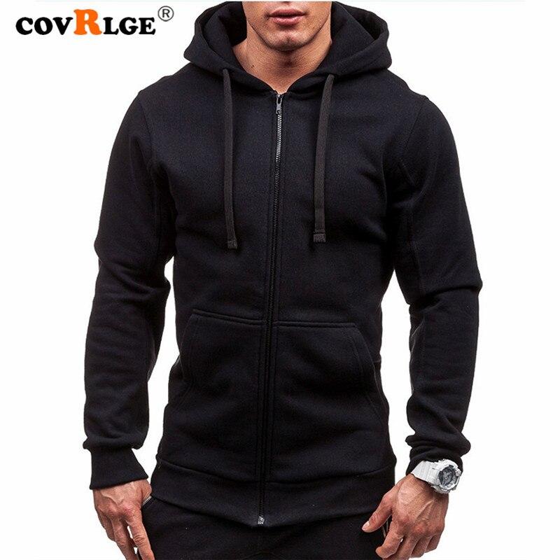 AliExpress - Covrlge Men Hoodies Jacket Spring Drawstring Zipper Hooded Sweatshirt Male Long Sleeve Pocket Pullover Autumn Hoodie Coat MWW145