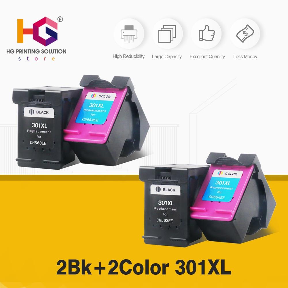 QSYRAINBOW 4 Uds llenar reemplazo de cartucho de tinta para HP 301 XL HP301 DeskJet serie 1050, 2050, 3050, 2150, 3150, 1010, 1510, 2540 impresora