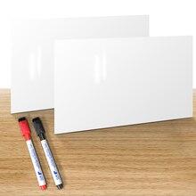 Yibai 2 Stks/set Magnetische Whiteboard, koelkast Schrijfbord Message Board Met 2 Stuks Marker Voor Thuis En Kantoor Drop Winkelen