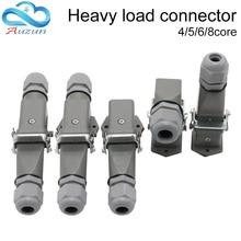 Heavy duty connector 4 core (3+1)5 core (4 +1)6 core (5+1)8 core (7+1) aviation multiple function type docking plug