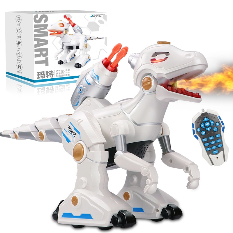 new educational toy Remote Control Robot Dinosaur Toy 360 Degree Rotate Simulation Spray Flame Dinosaur With Bullet kid best gif enlarge