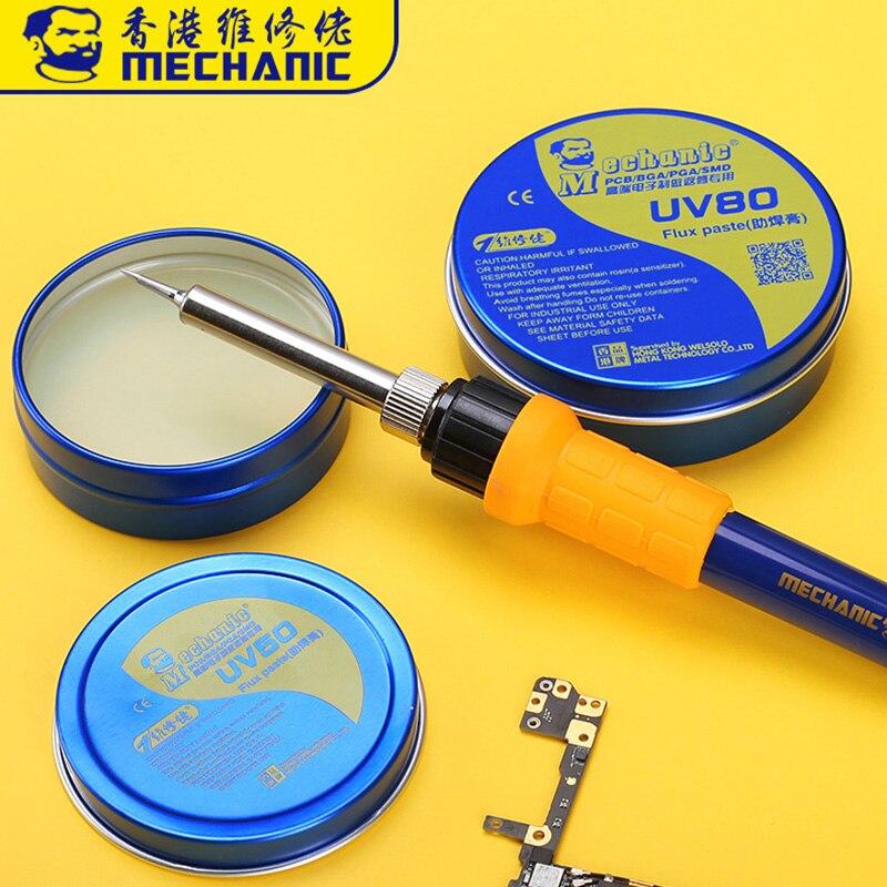Механик MCN-UV80 не-чистая паяльная паста Флюс канифоли паяльный флюс Электрический паяльник сварочные флюсы для PCB/BGA/PGA/SMD