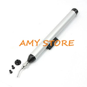 Alluminum Alloy Metal 10mm 7mm 3mm Silver Tone Black Pick Up Hand Tool Vacuum Sucking Pen for IC SMD