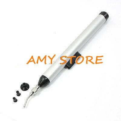 Aleación de aluminio Metal 10mm 7mm 3mm tono plateado negro recogida mano herramienta bolígrafo de succión al vacío para IC SMD