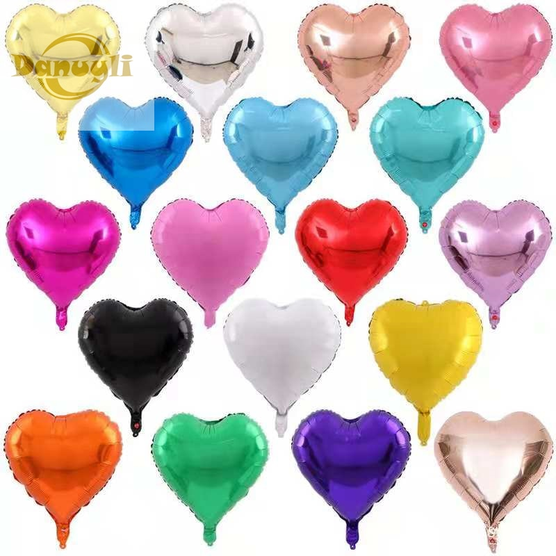 5pcs 5/10/18inch heart Air foil Balloons Happy Birthday Party Helium Balloon Decorations Wedding Festival Balon Party Supplies