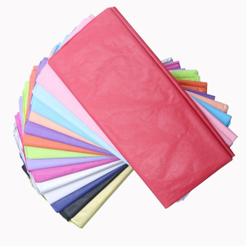 10 unids/bolsa 50x66cm regalo embarcaciones de embalaje Flor de papel tisú papel de rollo de papel de camisa de vino zapatos de ropa de embalaje