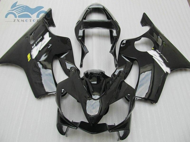 Kit de carenado negro CBR 600 F4i 2001 2002 2003 CBR600 f4i 01 02 03, Carrocería deportiva para motocicleta