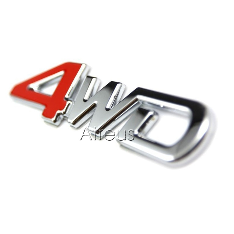 3D 4WD 4x4 Metal Stickers Car Sticker For kia rio k2 Sportage 3 2017 Cerato Sorento Volvo XC60 XC90 S60 S80 V70 S40 Accessories