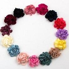Roses à Clip Vintage pour bandeau   10 pièces/lot de 6cm, 14 couleurs, fleurs pour enfants, accessoires fleurs artificielles en tissu pour bandeau