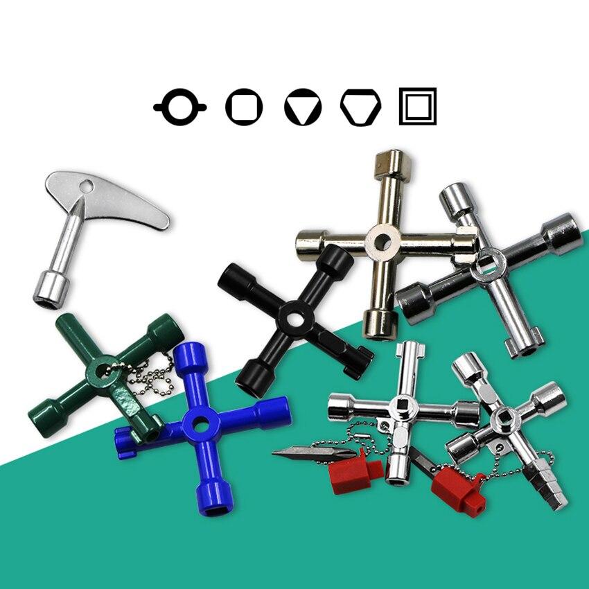 Llaves multifunción de 4 maneras llave Universal triangular llaves de fontanero triángulo para Gas gabinete medidor eléctrico radiadores de purga