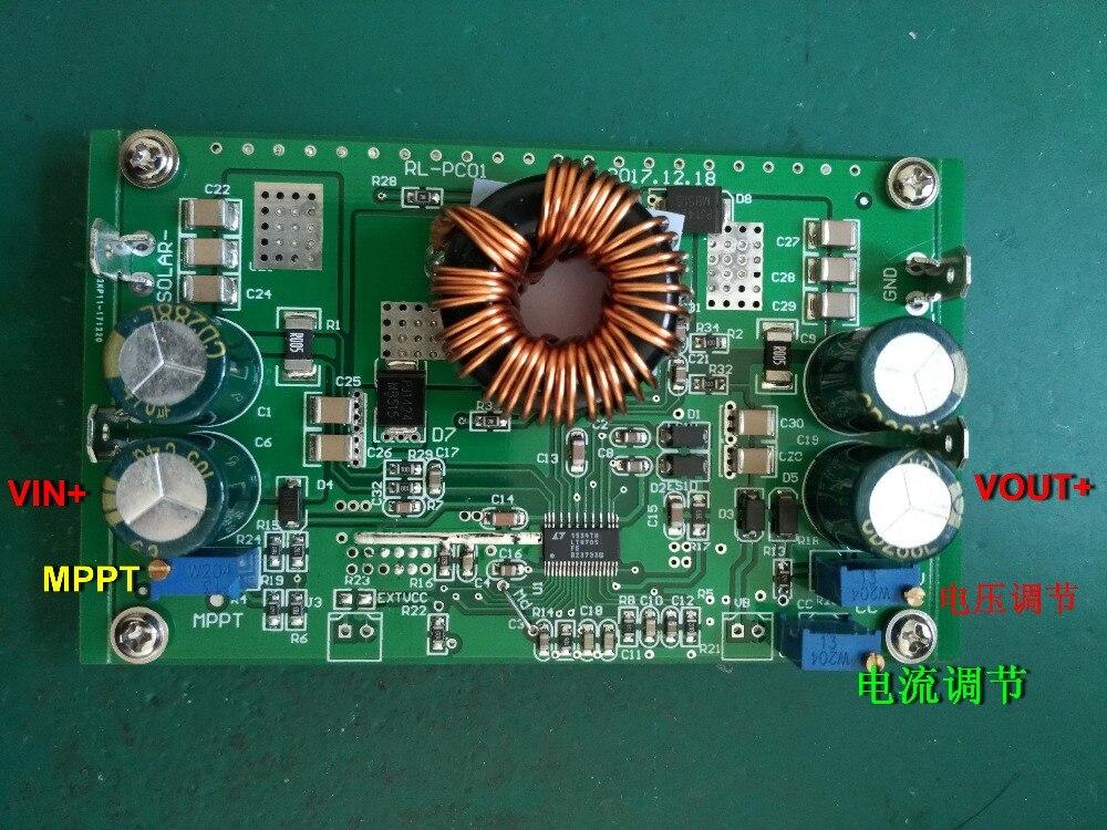 250W MPPT solar CC-CV carregamento LT8705 DC-DC levantamento automático e pressionando