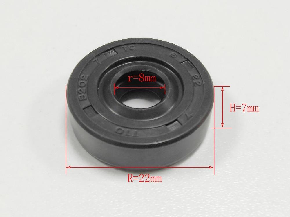 1pc 7mm * 8mm * 22mm Öl Dichtung Ring Ersatz Für LG Für samsung Für Philips für ACA... Radialwellendichtring Ring Mixer Ersatzteile