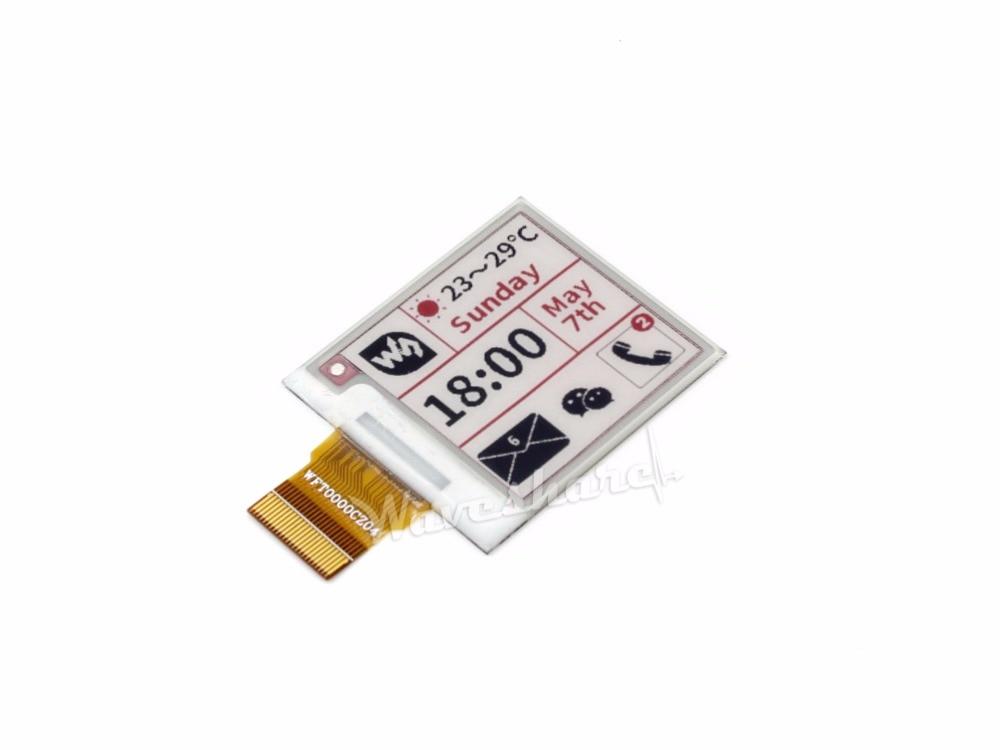 1.54 e 200x200 papel, visor do painel de 1.54 polegada E Tinta-cru, sem PCB, -três cores Vermelho, Preto, Branco. interface de SPI