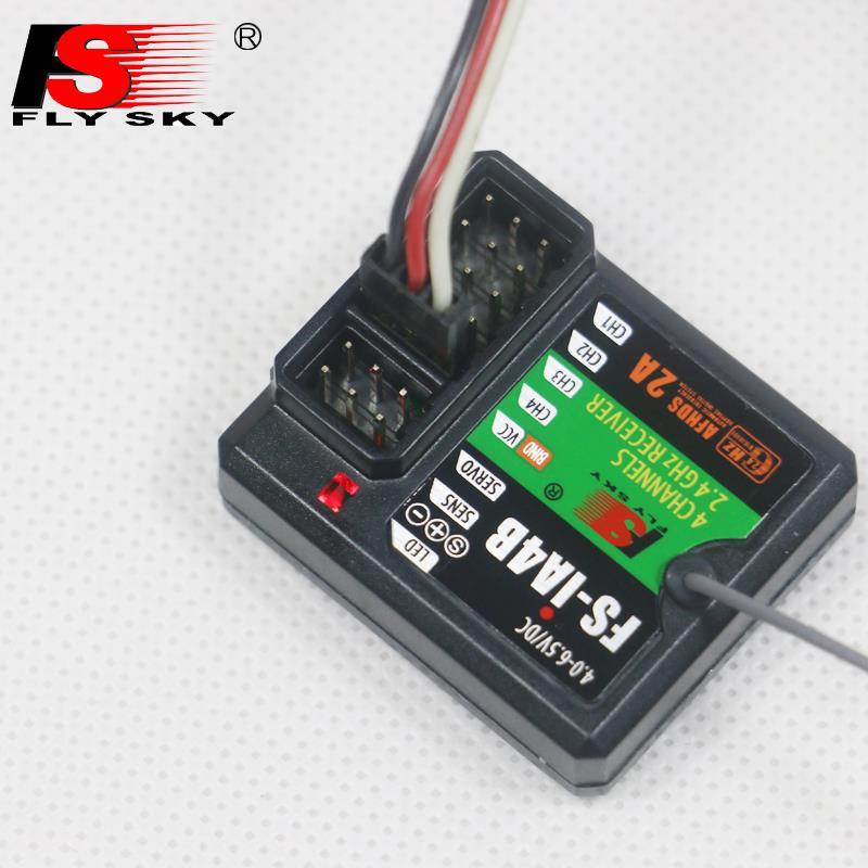 FlySky FS-IA4B 2,4G 4CH recibidor compatible con datos de retorno salida PPM iBus Puerto FS i4 i6 i10 iT4S transmisor RC coche barco F16812