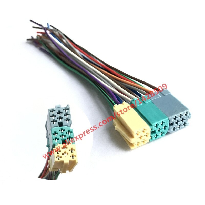5 Pcs Universal de Rádio ISO Cablagem 20 pin Conector Plug Adapter Kit Automóvel CD Carro AUX Para VW VM20A