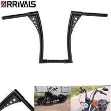 "Motorcycle Custom Black Motorcycle Handle Bar Ape Hangers 1-1/4"" Fat Bars 16 Rise Handlebars  Fit for Harley Durable Quality"