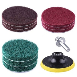 "8 pçs/set 100*65mm polimento esfrega almofadas de limpeza de energia kit pano 1/4 ""hex shank para superfícies de limpeza chaves de fenda sem fio"