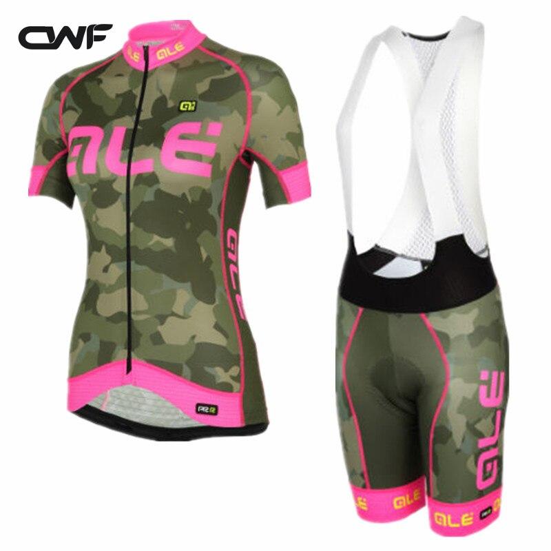 2017 Велоспорт Джерси Наборы для ухода за кожей Велосипедная форма Для женщин