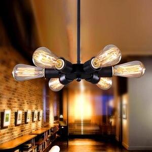 Retro 6 Heads  Wheel Pendant Light Loft Restaurant Bar Living Room Industrial Vintage Pendant Lamp E27