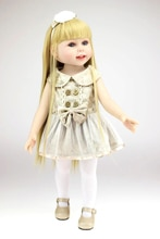 18inch American princess girl Full vinyl silicone girl doll Medical mold doll adorable kids accompanying babies doll brinquedos